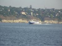 Теплоход на подводных крыльях Нибулон Экспресс 1, тип Полесье, маршрут Николаев - Очаков - Кинбурнская Коса