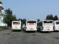 Псков. Mercedes O345 ав110, ЛиАЗ-5256.26 ав629, Mercedes O345G аа456