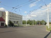 Бывшая диспетчерская станция, а теперь разворотное кольцо Семашко, используется для разворота троллейбусным маршрутом №31