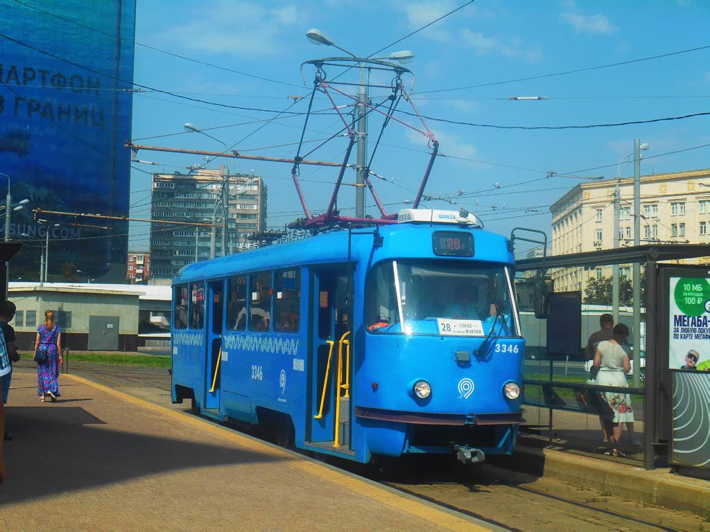 Москва. Tatra T3 (МТТМ) №3346