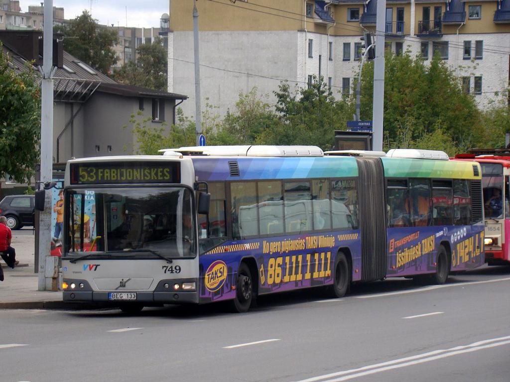 Вильнюс. Volvo 7700A BEG 133