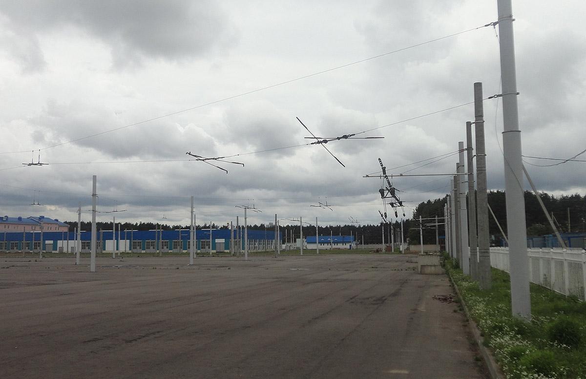 Минск. Несостоявшийся 1-й троллейбусный парк на новой территории на улице Гинтовта