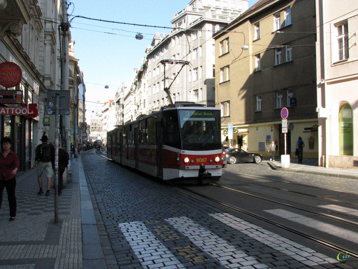Прага. Tatra KT8D5 №9067