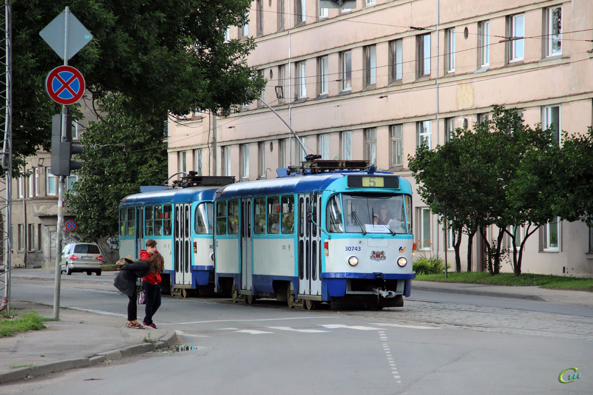 Рига. Tatra T3A №30743, Tatra T3A №30754