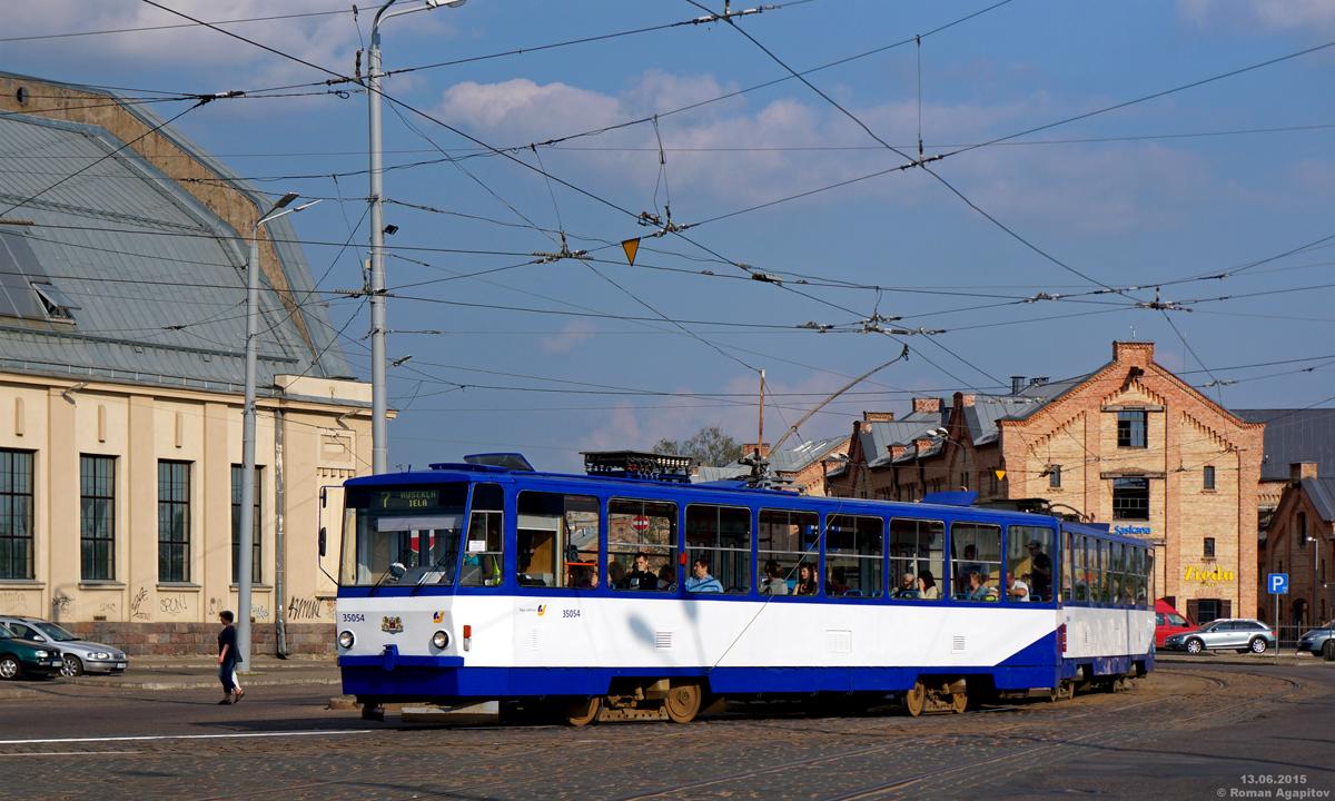 Рига. Tatra T6B5 (Tatra T3M) №35054