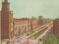 Санкт-Петербург. Поезд из вагонов ЛМ-33 и ЛП-33 Американка