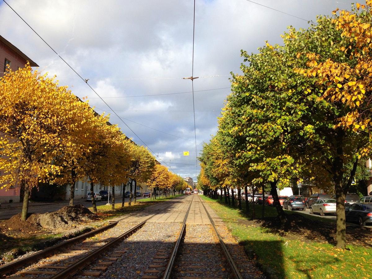 Санкт-Петербург. Трамвайная линия
