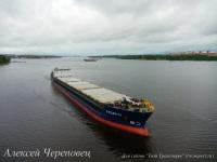 Сухогрузный теплоход смешанного река-море плавания Русич-11 дедвейтом 5485 тонн и мощностью 2280 кВт