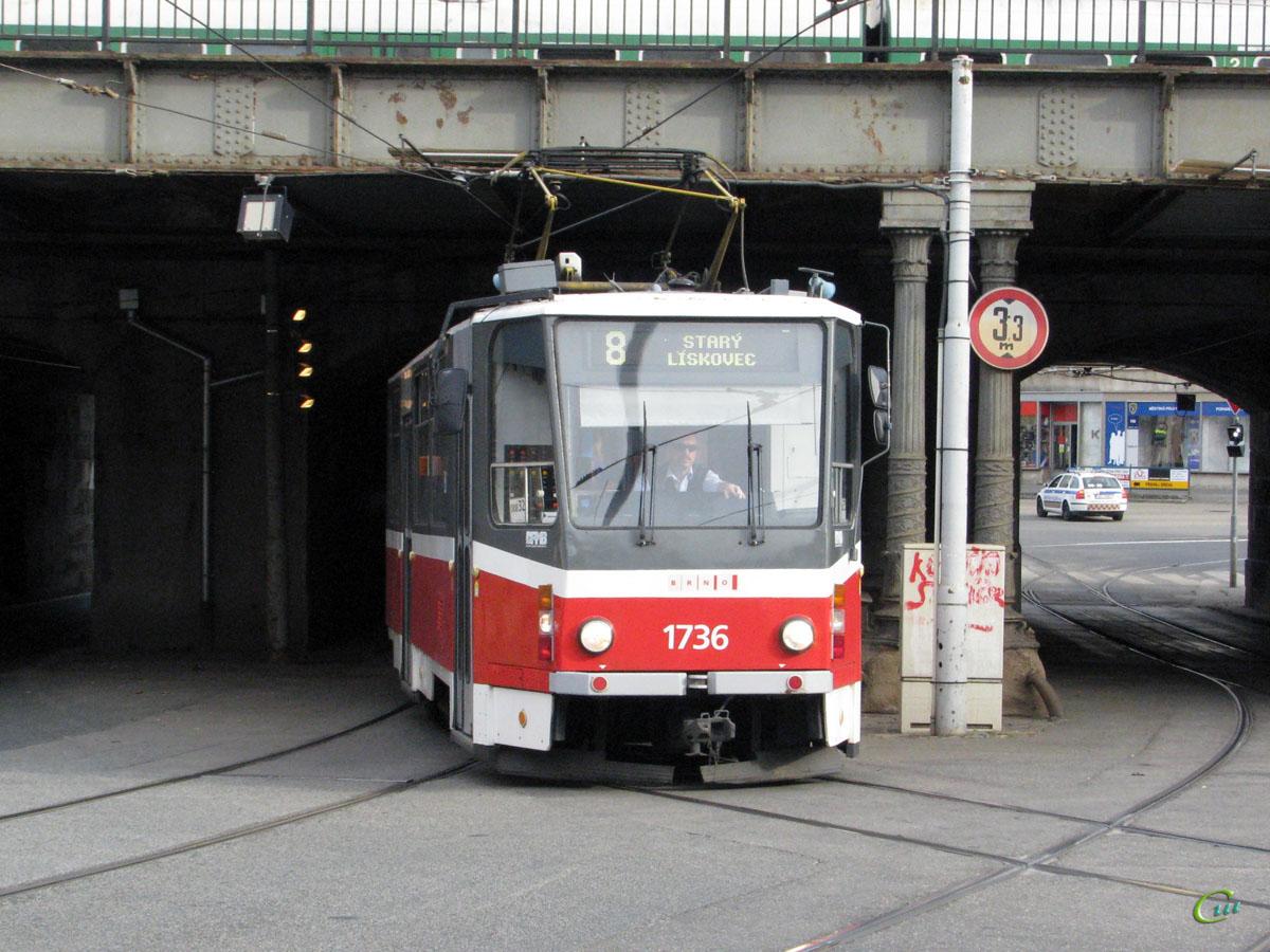 Брно. Tatra KT8D5 №1736