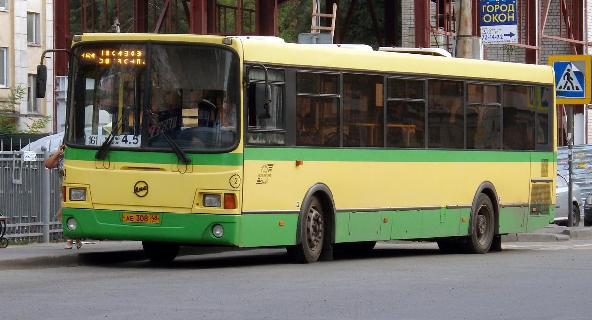 Липецк. ЛиАЗ-5256.53 ае308
