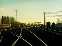 Калуга. Вид из чётной горловины станции на пути для грузовых поездов