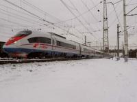 Тверь. Высокоскоростной электропоезд ЭВС1 Сапсан на станции Тверь
