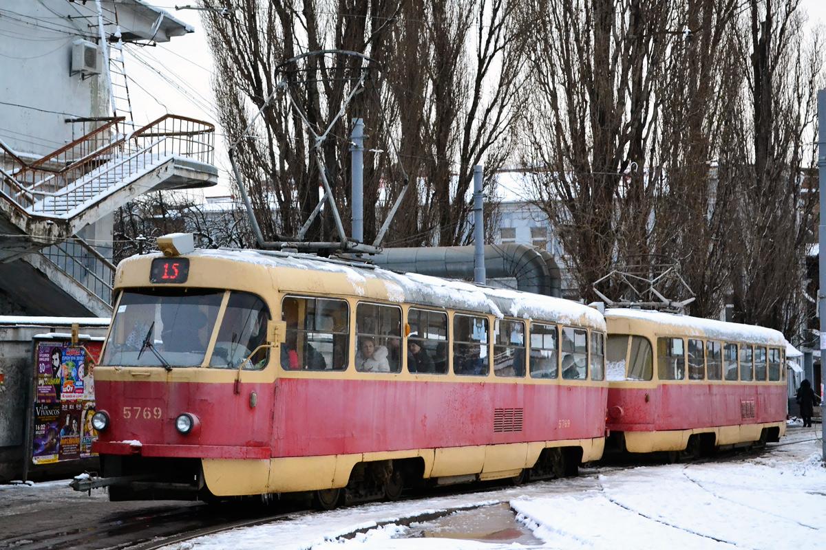 Киев. Tatra T3 №5769, Tatra T3SU №5759