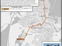 Логойск. Схема городского автобусного маршрута № 22 Минская - Поселок Мелиораторов по состоянию на 2017 год