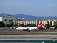 Лос-Анджелес. Самолет Airbus A319 (N522VA) авиакомпании Virgin America