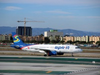 Лос-Анджелес. Самолет Airbus A320 (N606NK) авиакомпании Spirit Airlines