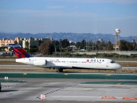 Лос-Анджелес. Самолет Boeing 717 (N971AT) авиакомпании Delta Air Lines