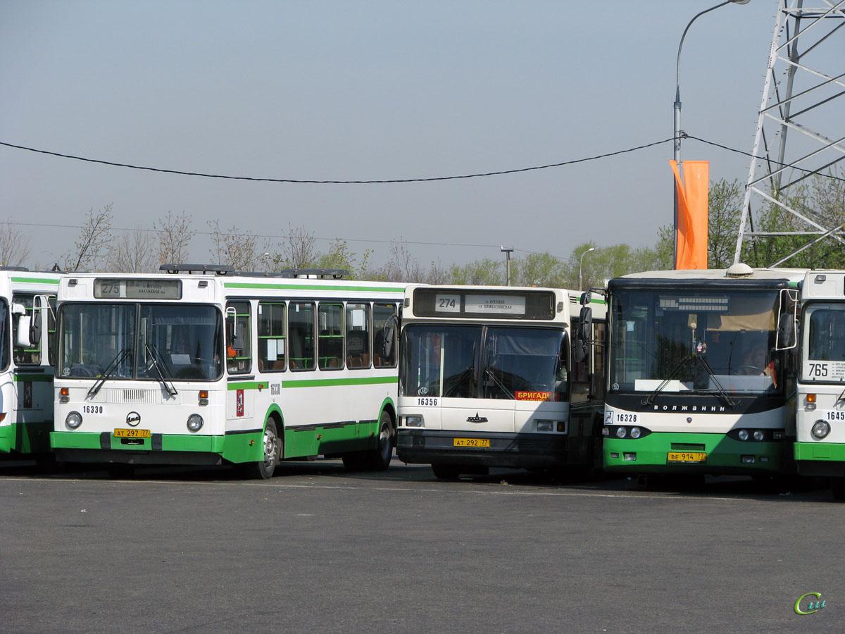 Москва. МАЗ-103.060 ат292, ЛиАЗ-5256.25 ат297, Волжанин-6270.10 ве914