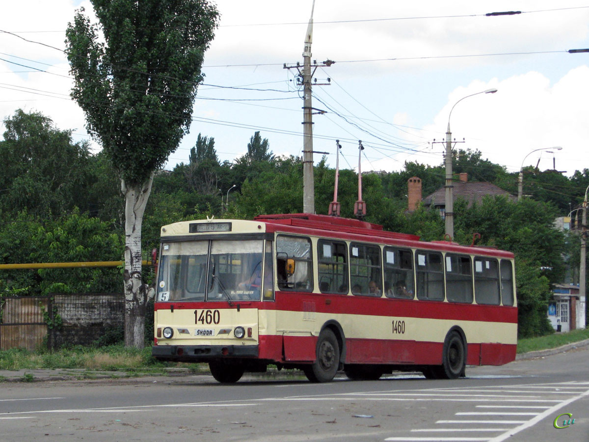 Мариуполь. Škoda 14Tr89/6 №1460