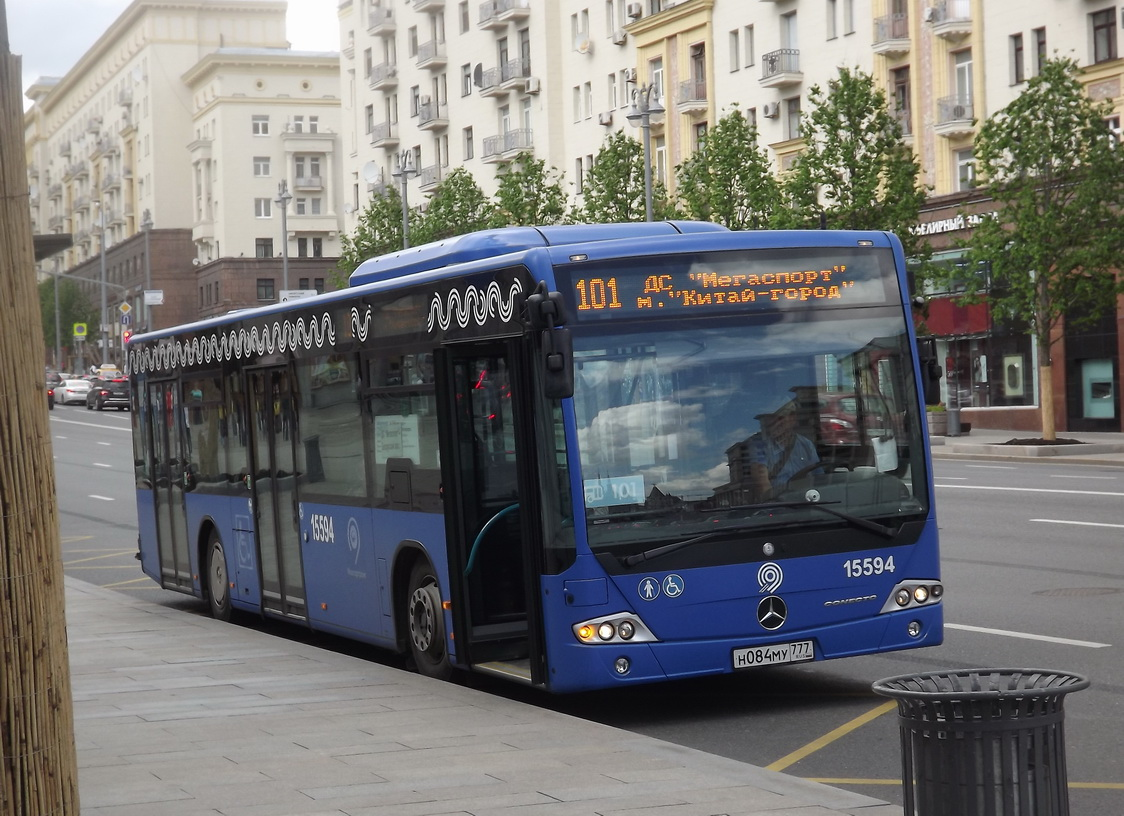 Москва. Mercedes O345 Conecto LF н084му