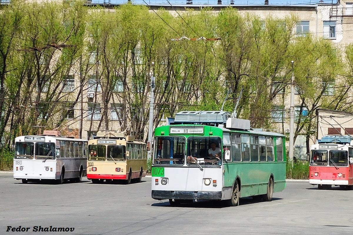 Челябинск. ЗиУ-682В-012 (ЗиУ-682В0А) №1100, ЗиУ-682В №1180, ЗиУ-682Г00 №1073, ЗиУ-682Г00 №1099