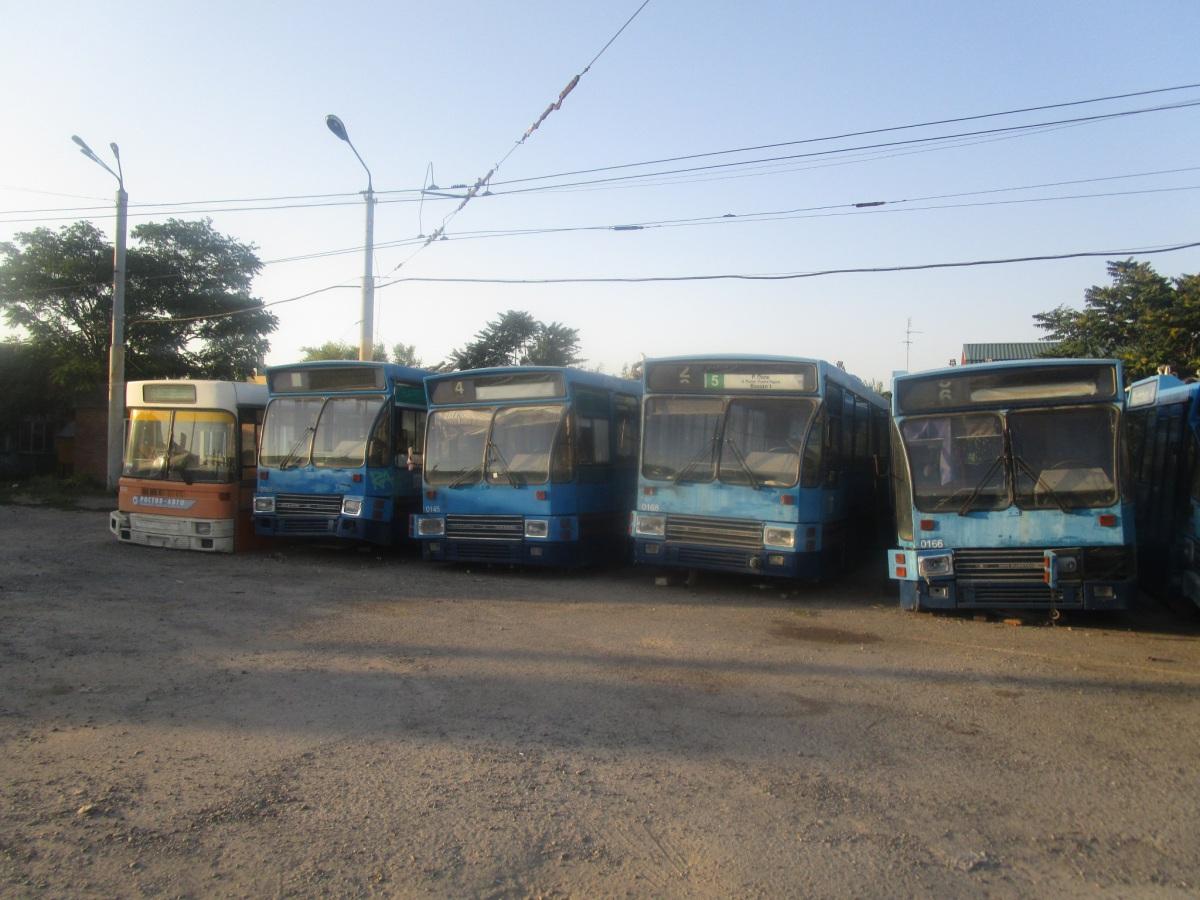 Таганрог. DAF B79T-K560 №0145, DAF B79T-K560 №0161, DAF B79T-K560 №0166, DAF B79T-K560 №0168, Steyr STS 11 HU 200 №107