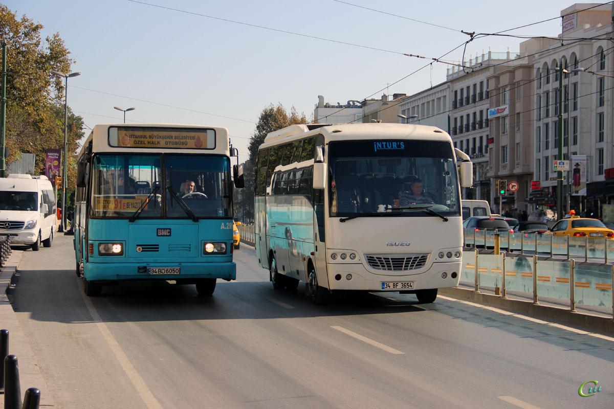 Стамбул. BMC Belde 34 BD 6050, Isuzu Turquoise 34 BF 3654