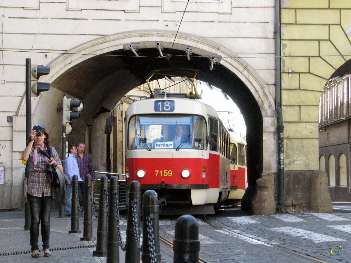 Прага. Tatra T3SUCS №7159