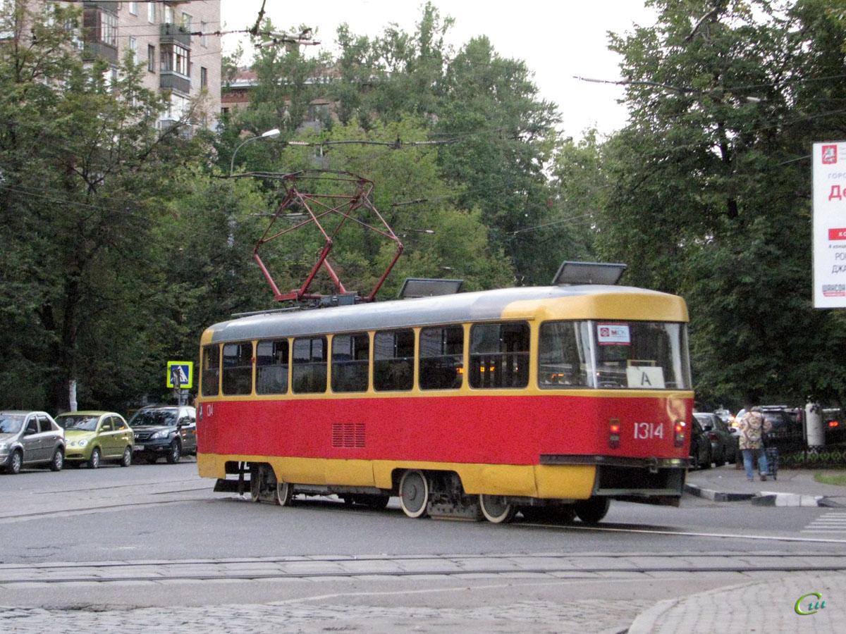 Москва. Tatra T3 (МТТД) №1314