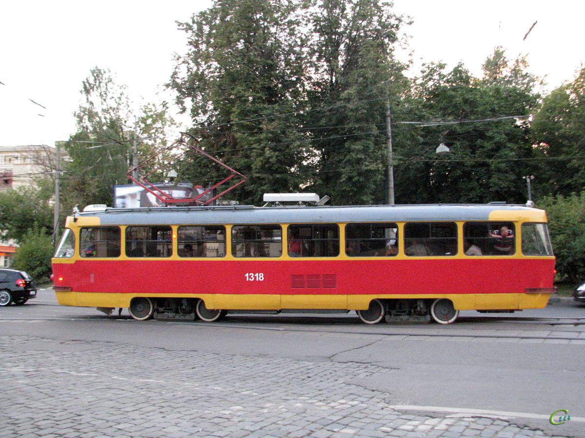 Москва. Tatra T3 (МТТЕ) №1318
