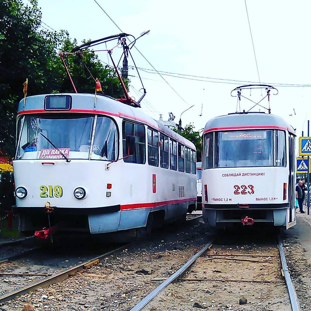 Тверь. Tatra T3SU №223, Tatra T3SU №219