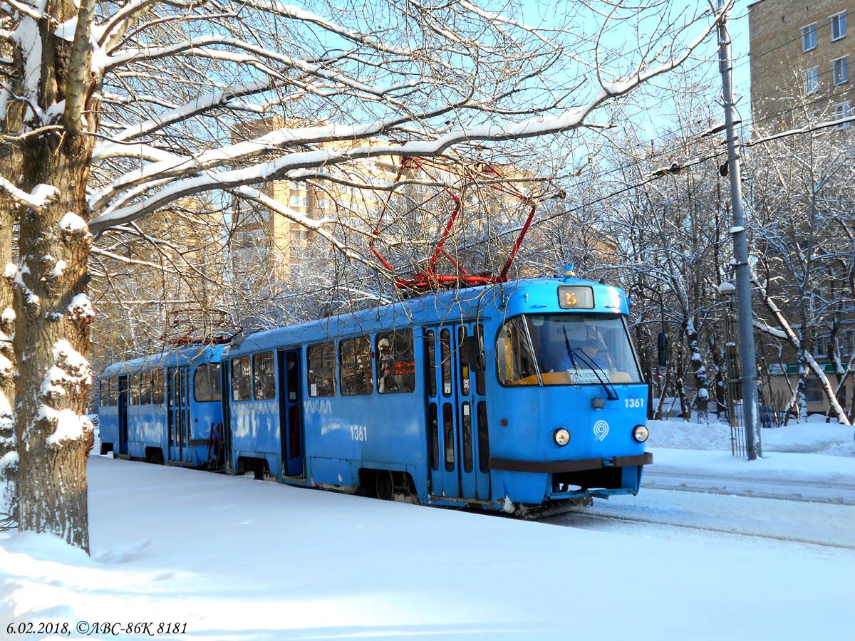 Москва. Tatra T3 (МТТЧ) №1361, Tatra T3 (МТТЧ) №1362