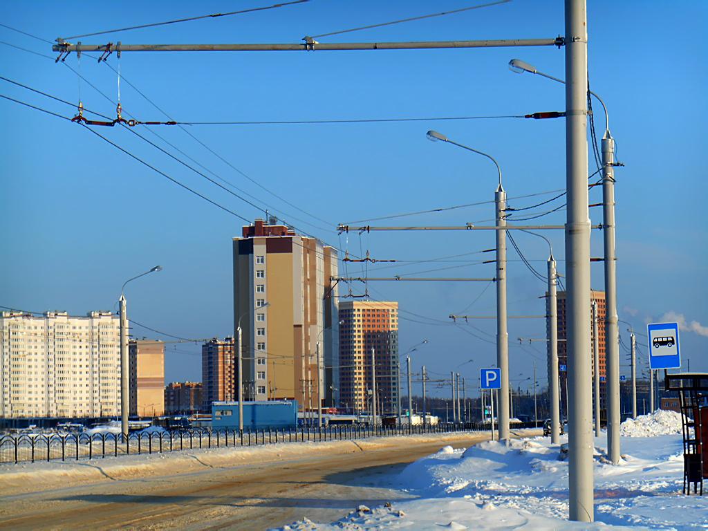 Калуга. Строительство новой троллейбусной линии до микрорайона Кошелев Проект продолжается