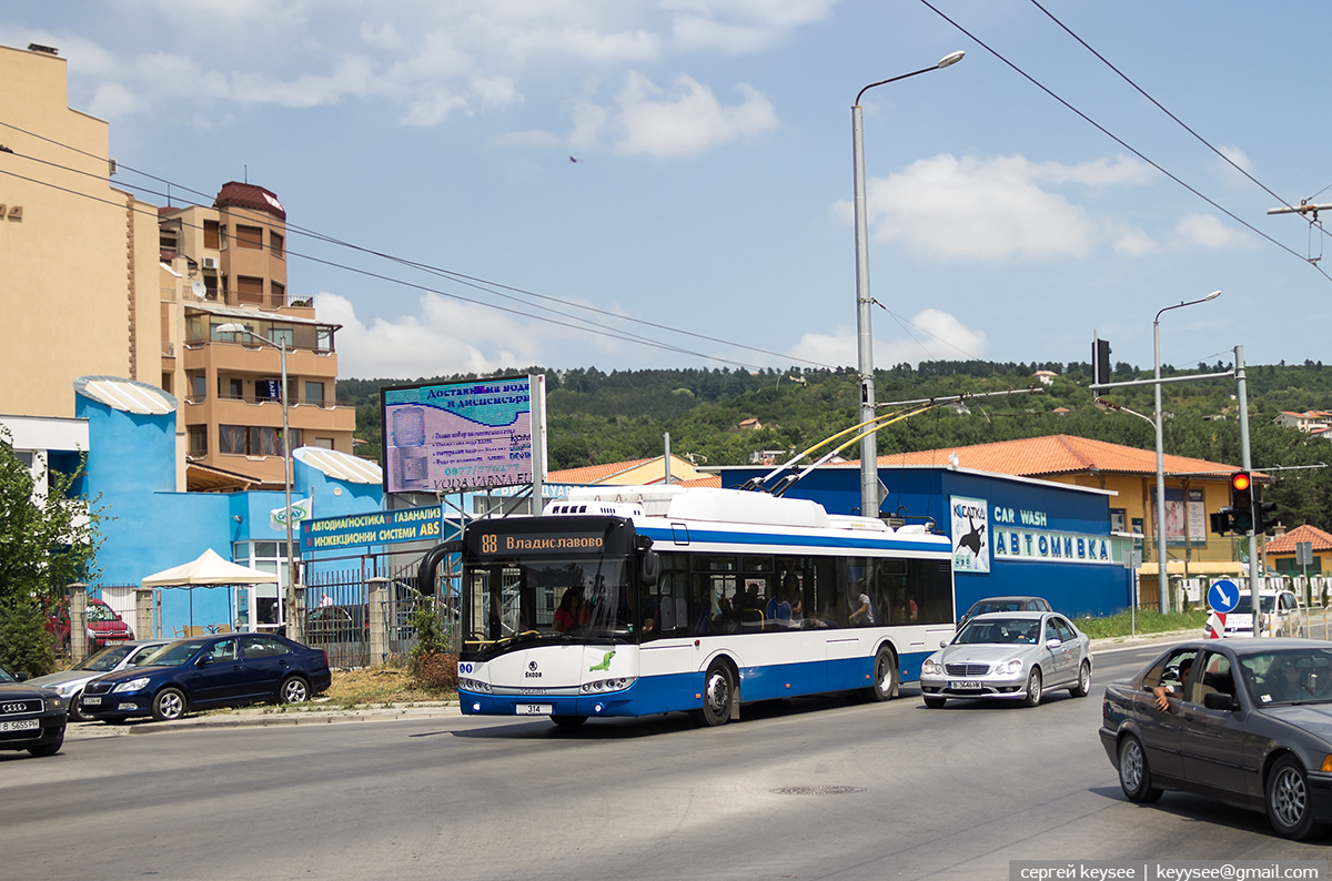 Варна. Škoda 26Tr Solaris №314