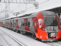 Москва. Скоростной электропоезд постоянного тока ЭС2Г