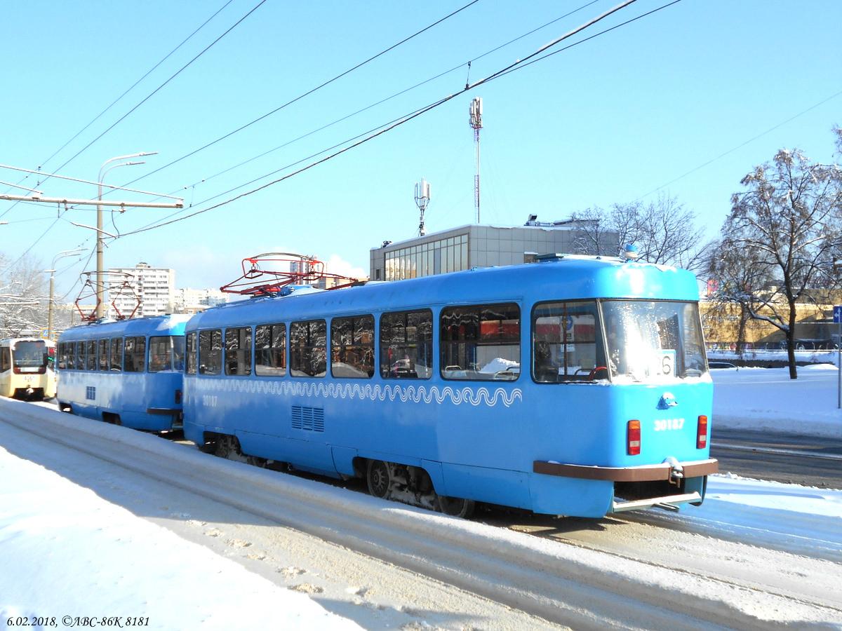 Москва. Tatra T3 (МТТЧ) №30187