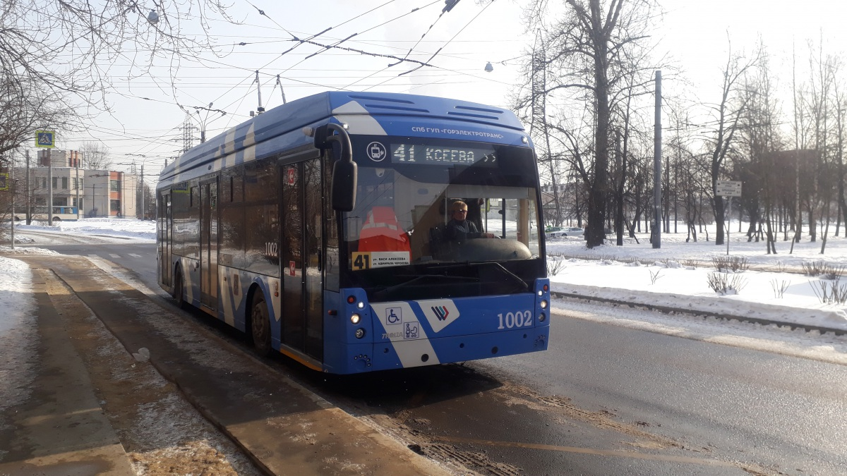 Санкт-Петербург. ТролЗа-5265.08 №1002