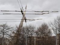 Москва. Недействующий участок контактной сети