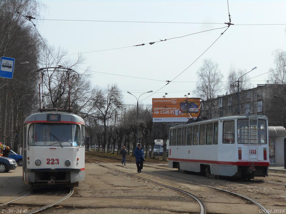 Тверь. Tatra T3SU №223, 71-608КМ (КТМ-8М) №101