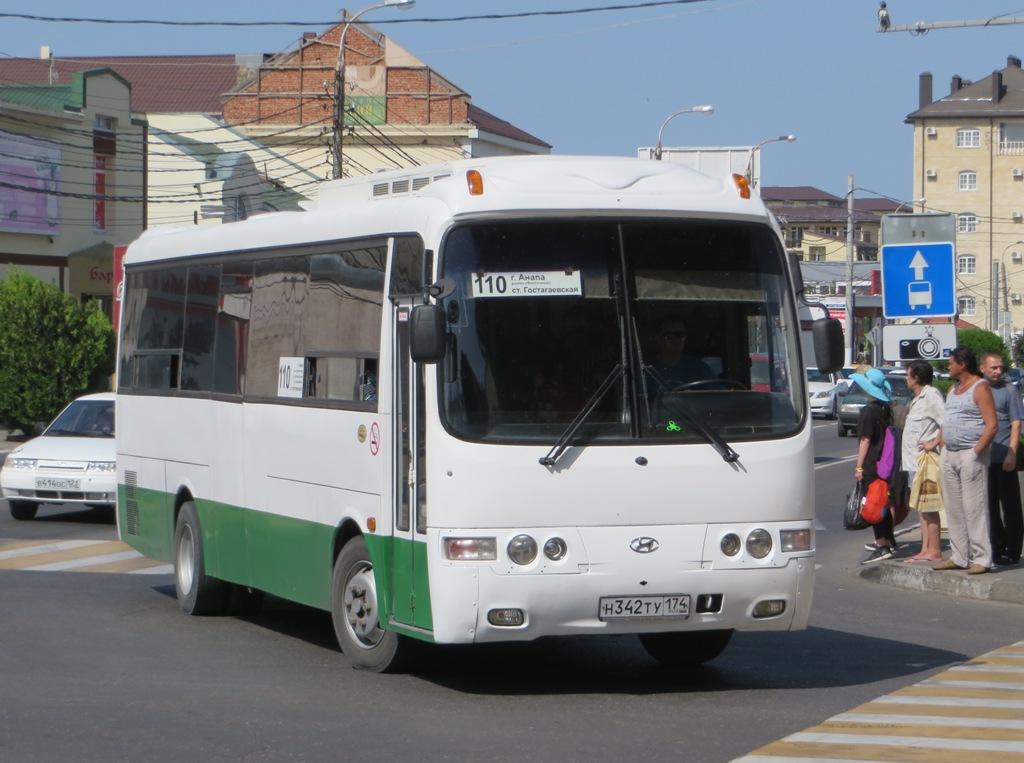 Анапа. Hyundai AeroTown н342ту