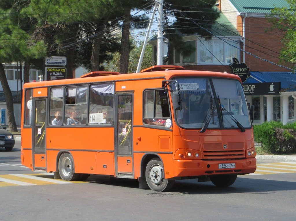 Анапа. ПАЗ-320402-05 а326см