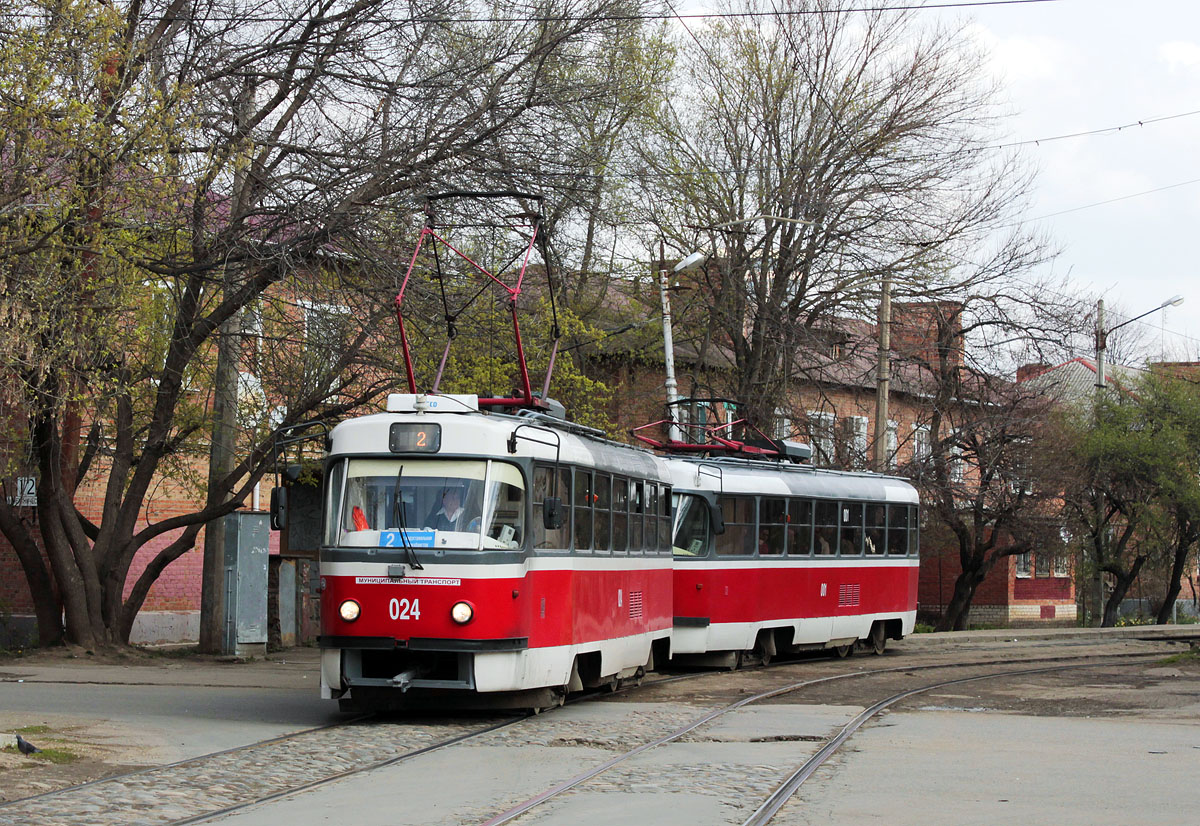Краснодар. Tatra T3SU №001, Tatra T3SU №024
