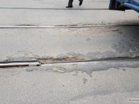 Таганрог. Стык, из-за которого сошел с рельсов трамвай 71-608КМ (КТМ-8М) № 363 5-го маршрута