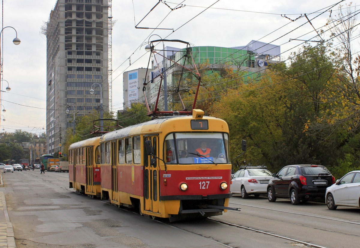 Краснодар. Tatra T3SU №127, Tatra T3SU №129