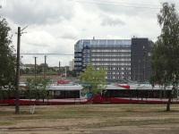 Минск. Трамваи модели АКСМ-802Е для Павлодара, способные работать по СМЕ, проходят обкатку в Минске