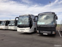 Ростов-на-Дону. Neoplan N2216/3SHDL Tourliner у008ма, MAN R08 Lion's Top Coach у009ма, JAC HK6120 м633рв