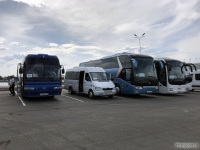 Ростов-на-Дону. Самотлор-НН-323770 (Mercedes-Benz Sprinter) е852ма, King Long XMQ6129Y е533сс, MAN R08 Lion's Top Coach н888ах