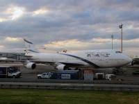 Нью-Йорк. Самолет Boeing 747 (4X-ELD) авиакомпании El Al Israel Airlines