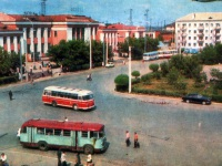 Курган. Автобусы ЗиЛ-158В, ЛАЗ-695М и ЛиАЗ-677