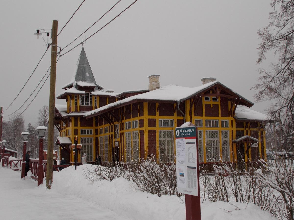 Осташков. Вокзал станции (является музейным комплексом)